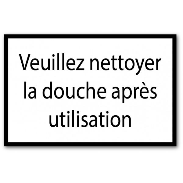 Nettoyer la douche après utilisation