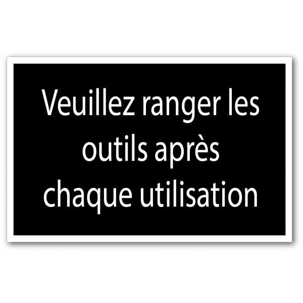 Ranger les outils