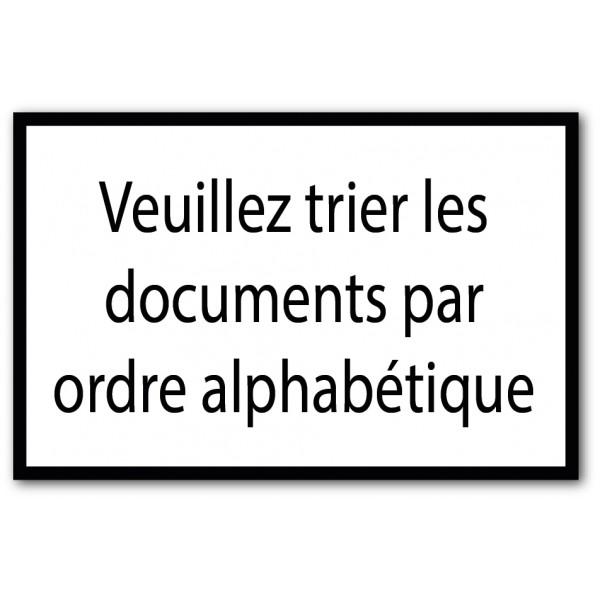 Trier les documents par ordre alphabétique