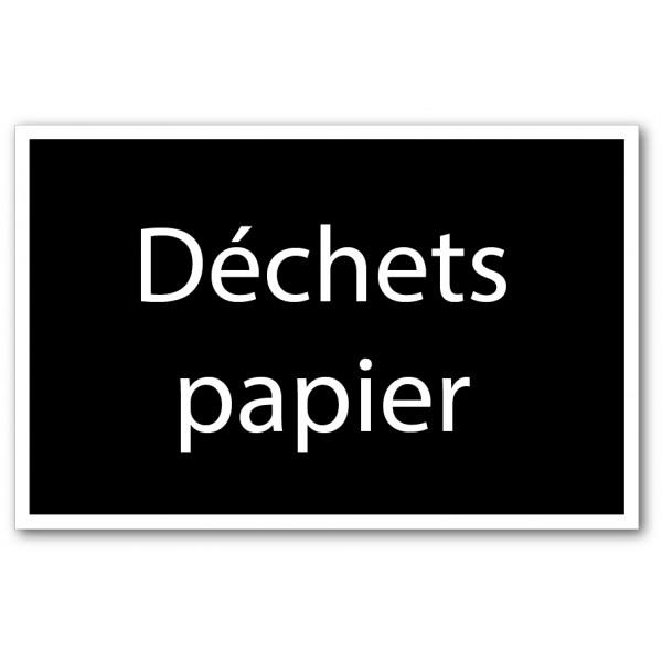 Tri déchets papier
