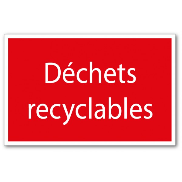 Tri déchets recyclables