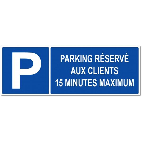 Parking réservé à la clientèle stationnement 1...