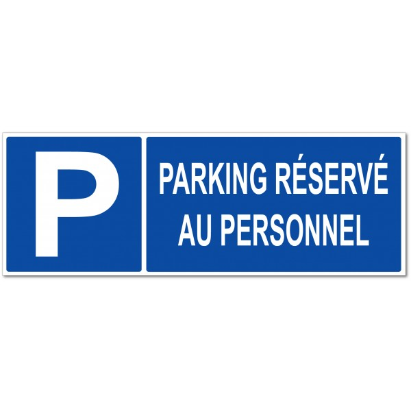 Panneau ou autocollant parking réservé au person...