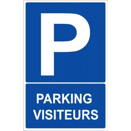Place de stationnement et parking visiteurs autocollant ou panneau