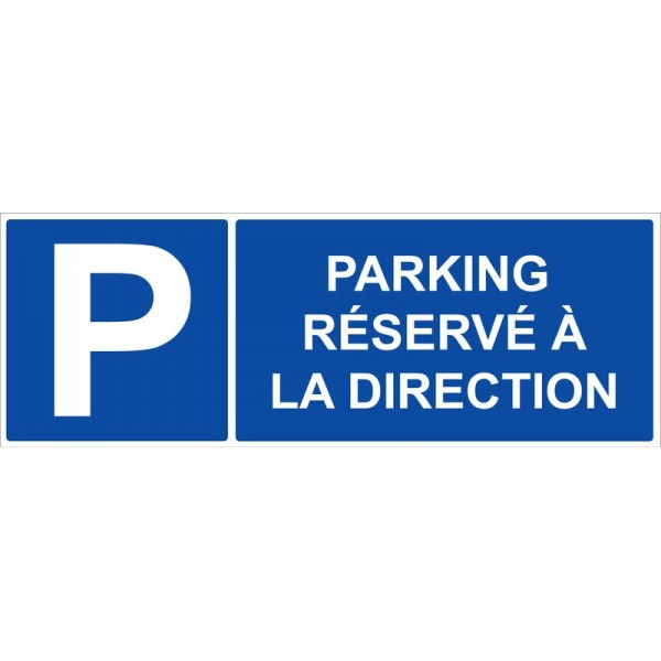 Parking réservé à la direction autocollant et p...