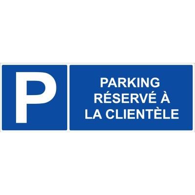Parking réservé à la clientèle autocollant et ...