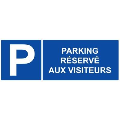 Parking réservé aux visiteurs autocollant et pan...