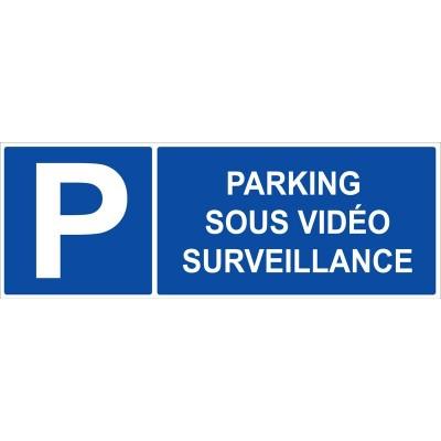 Parking sous vidéo surveillance autocollant et pa...