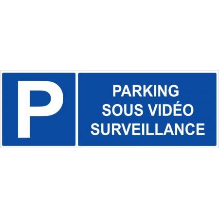 Parking sous vidéo surveillance autocollant et panneau