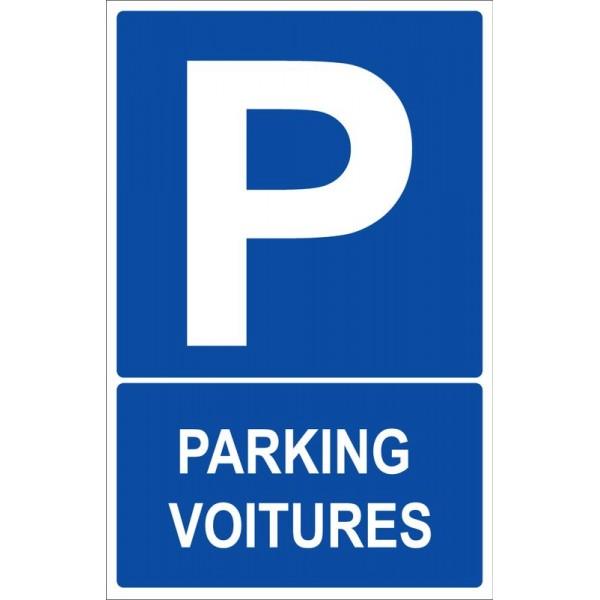 Autocollant et panneau place de stationnement et p...