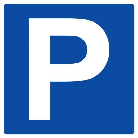 Pictogramme parking autocollant ou panneau