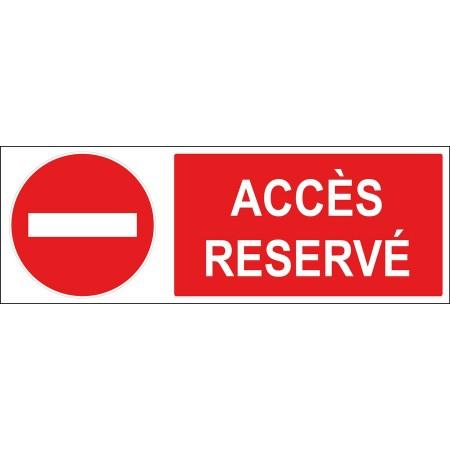 Panneau sens interdit accès réservé, disponible en autocollant