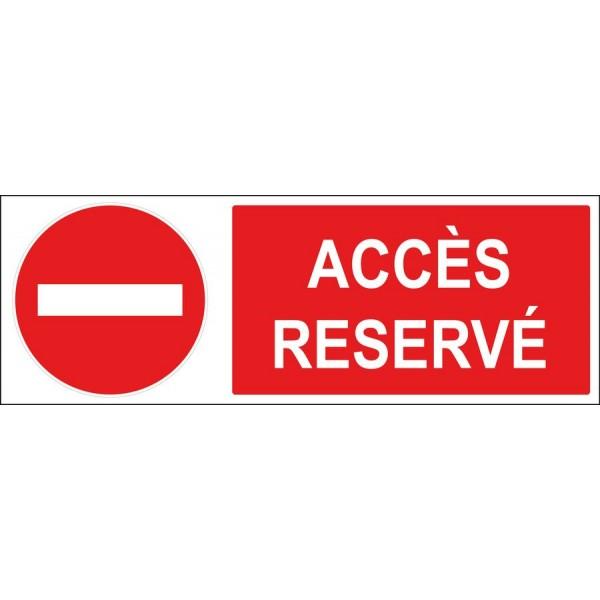 Panneau sens interdit accès réservé, disponible...