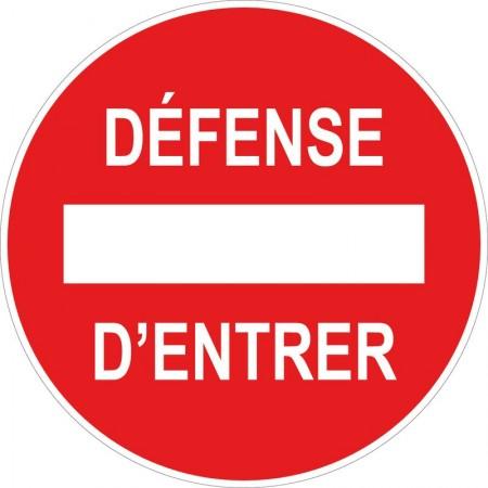Panneau ou autocollant circulaire, défense d'entrer