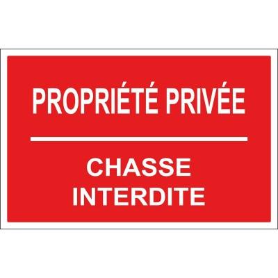 Propriété privée chasse interdite, autocollant ...