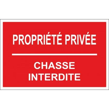 Propriété privée chasse interdite, autocollant et panneau