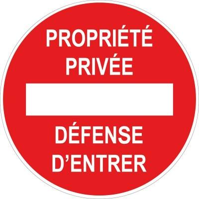 Propriété privée défense d'entrer circulaire, ...