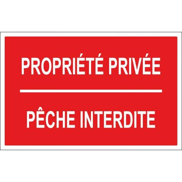 Propriété privée pêche interdite, autocollant ...