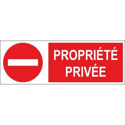 Signalétique propriété privée sens interdit