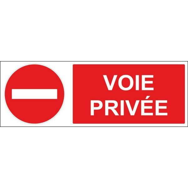 Autocollant et plaque d'affichage voie privée