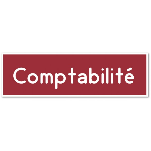 Comptabilité, autocollant et plaque pour porte - ...