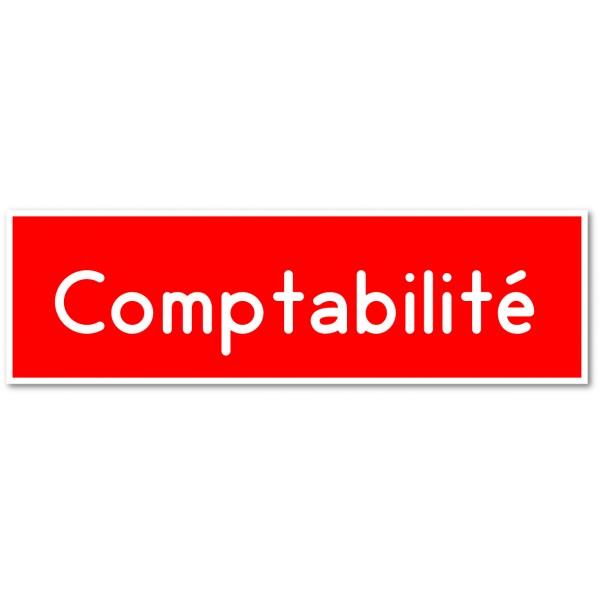 Comptabilité, autocollant et plaque pour porte - 9 coloris au choix