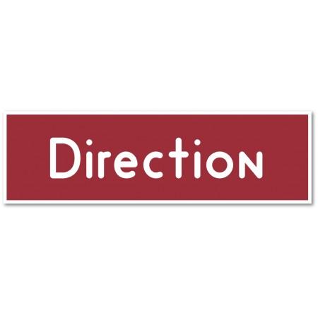 Direction, autocollant et plaque pour porte - 9 coloris au choix