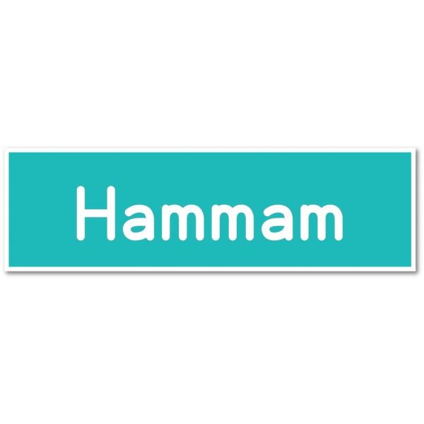 Hammam, autocollant et plaque pour porte - 9 coloris au choix