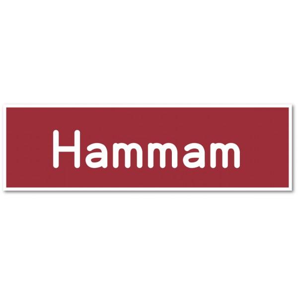 Hammam, autocollant et plaque pour porte - 9 color...