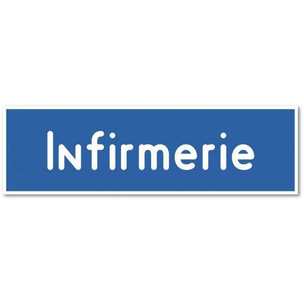 Infirmerie, autocollant et plaque pour porte - 9 coloris au choix