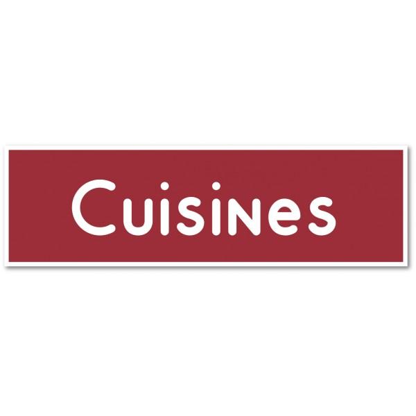"""Plaque et autocollant pour porte """"cuisines&qu..."""