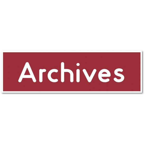 """Plaque et autocollant pour porte """"archives&qu..."""