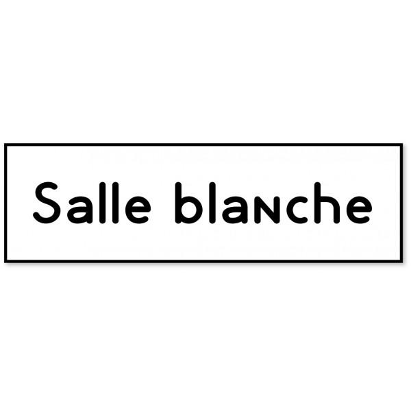 """Plaque et autocollant pour porte """"salle blanche"""" - 9 coloris au choix"""