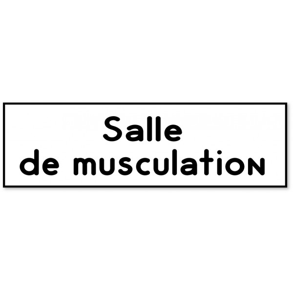Plaque et autocollant salle de musculation - 9 coloris au choix
