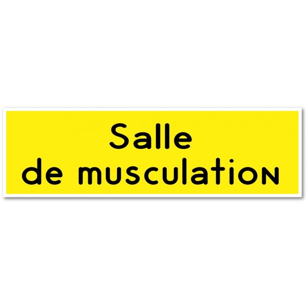 Plaque ou autocollant salle de musculation - 9 coloris au choix