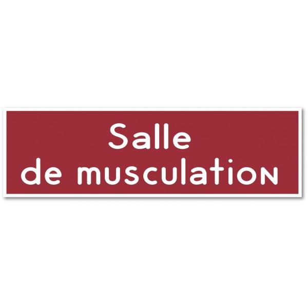 Plaque et autocollant salle de musculation - 9 col...