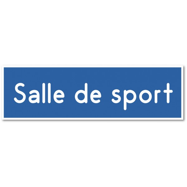 """Plaque et autocollant pour porte """"salle de sport"""" - 9 coloris au choix"""