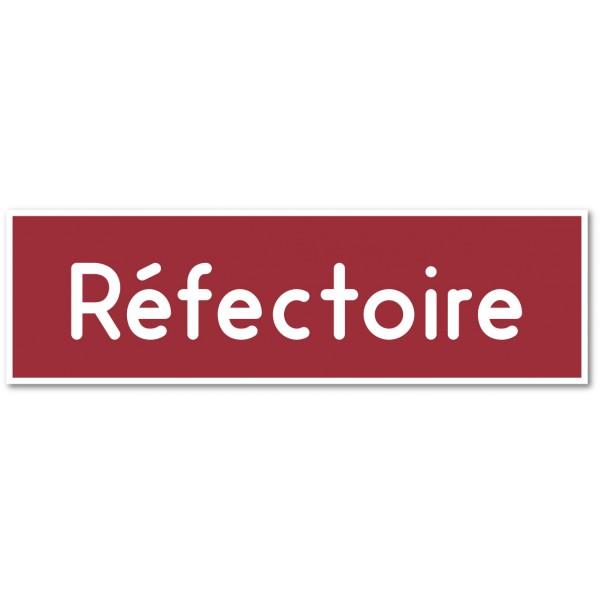 """Plaque et autocollant pour porte """"réfectoire..."""