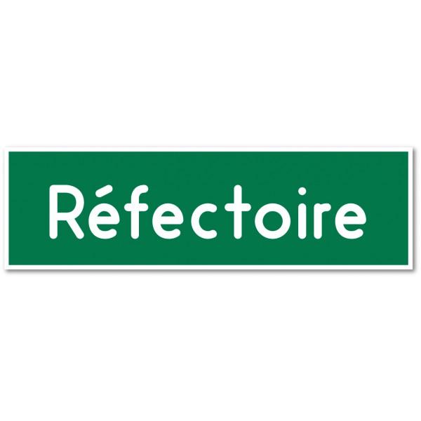"""Plaque ou autocollant pour porte """"réfectoire"""" - 9 coloris au choix"""