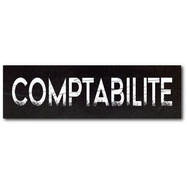 Comptabilité imprimé effet ardoise
