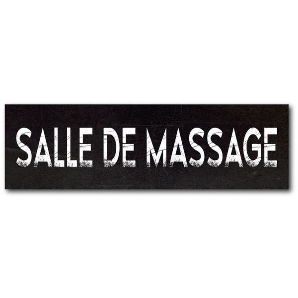 Salle de massage impression effet ardoise