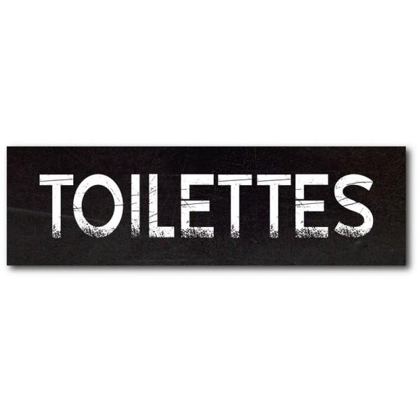 Toilettes impression effet ardoise