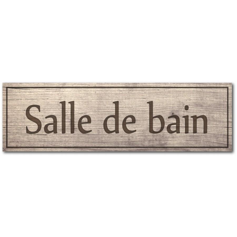 Salle De Bain Plaque plaque et autocollant salle de bain, impression effet bois