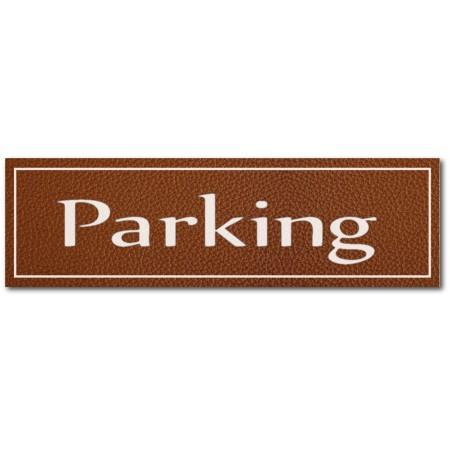 Signalétique Parking, effet cuir