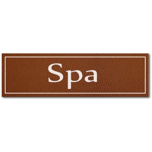 Signalétique SPA, effet cuir