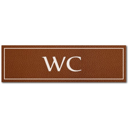 Signalétique WC, effet cuir