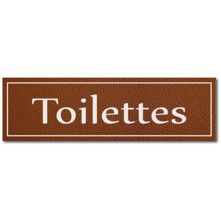 Signalétique toilettes, effet cuir