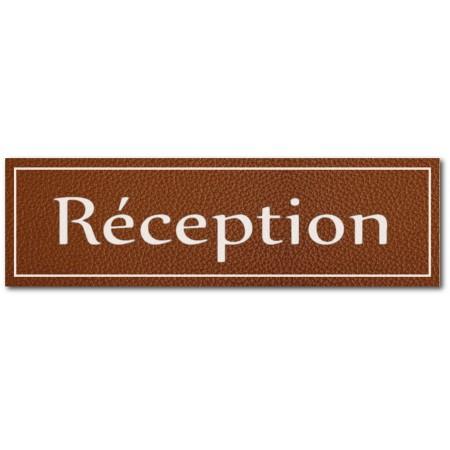 Signalétique réception, effet cuir