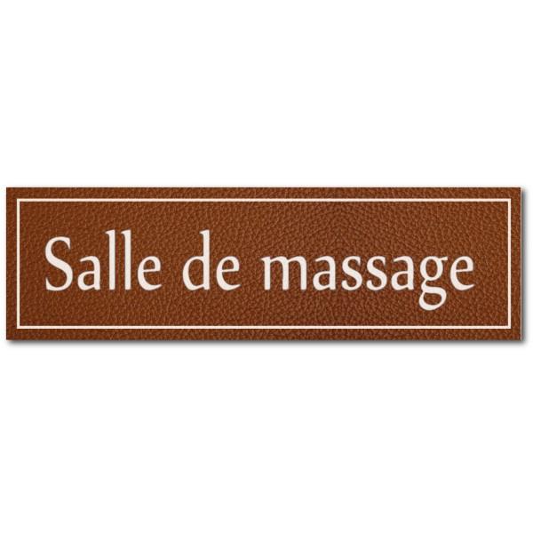 Signalétique salle de massage, effet cuir