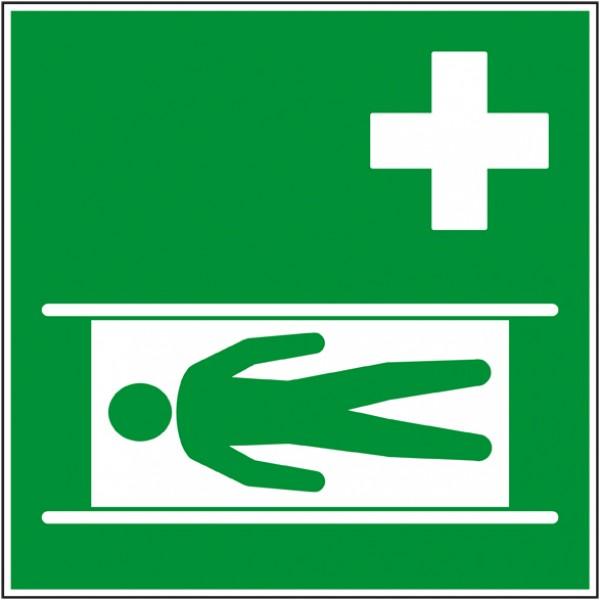 Civière de sécurité, pictogramme de secours en ...
